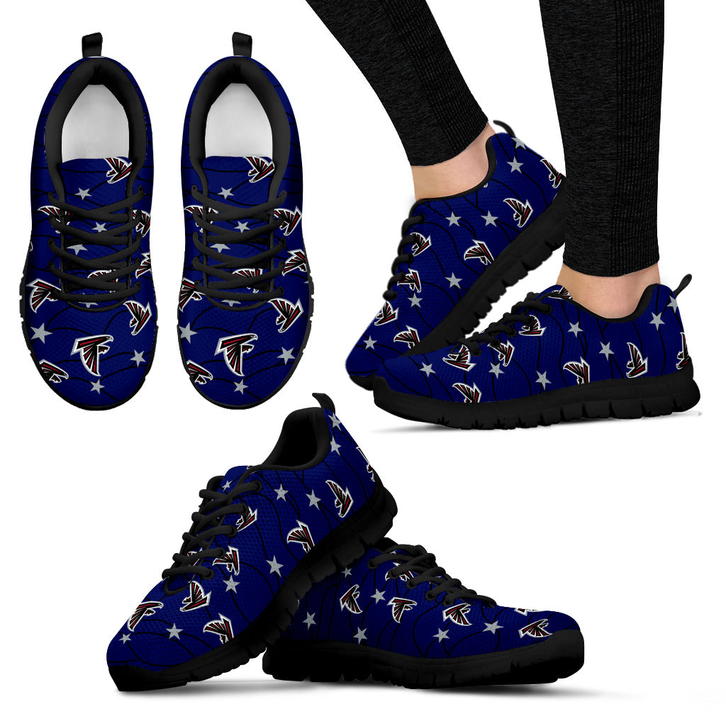 Star Twinkle Night Atlanta Falcons Sneakers