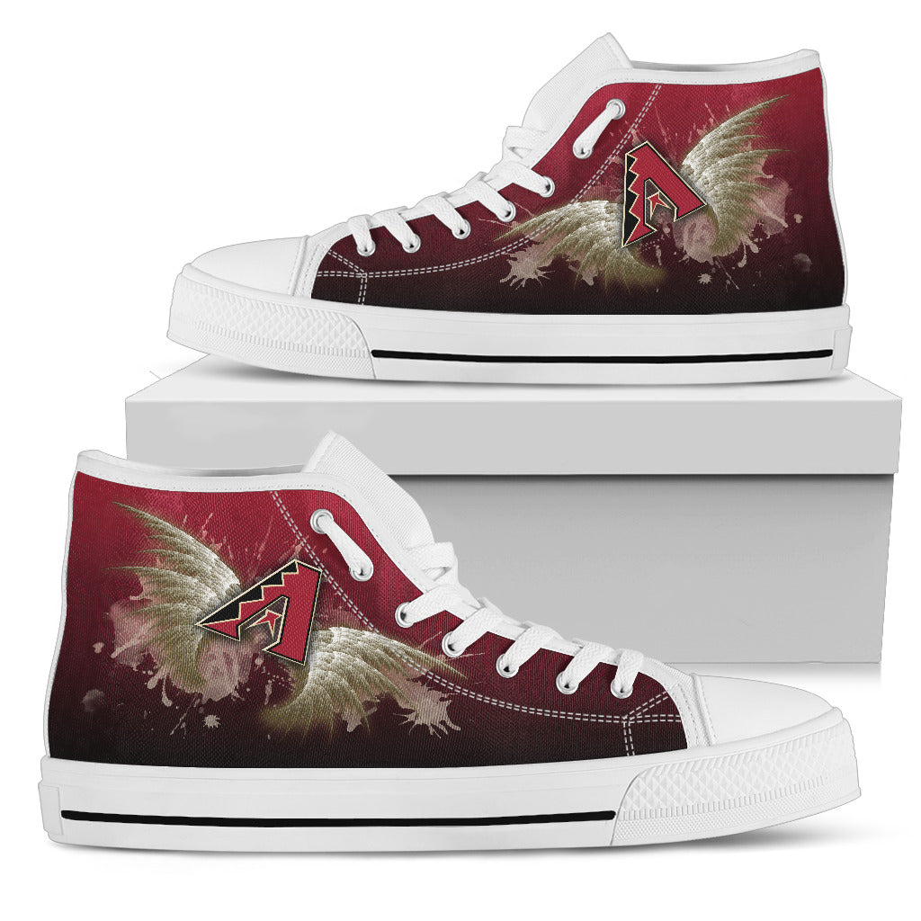 Angel Wings Arizona Diamondbacks High Top Shoes