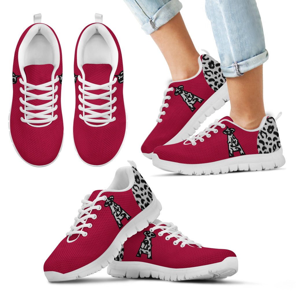 Cheetah Pattern Fabulous Los Angeles Angels Sneakers