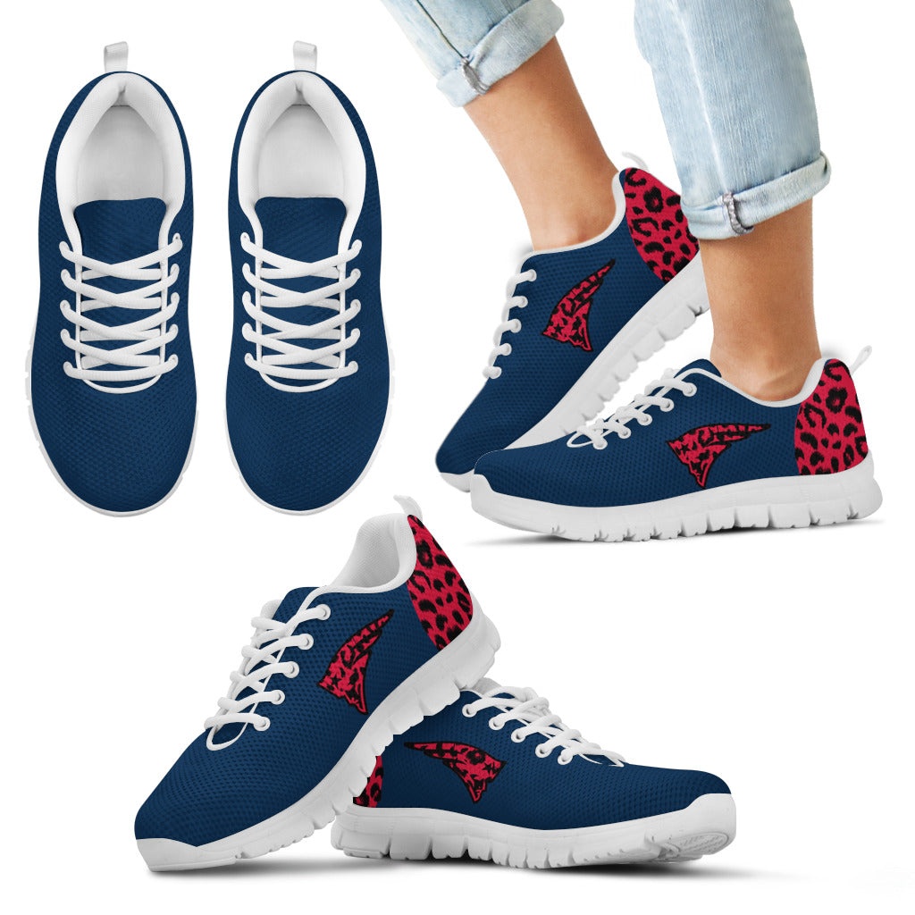 Cheetah Pattern Fabulous New England Patriots Sneakers