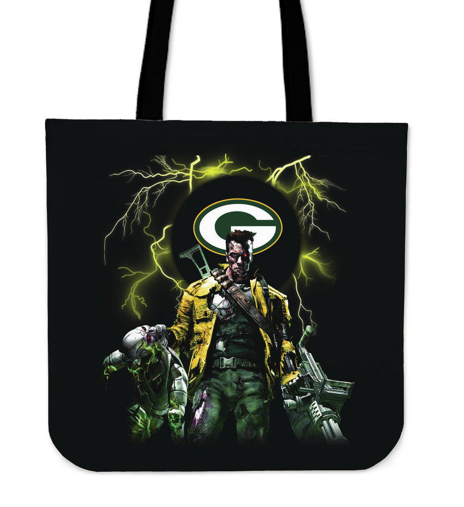 Green Bay Packers Guns Tote Bag - Best Funny Store