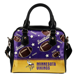 Personalized American Football Awesome Minnesota Vikings Shoulder Handbag