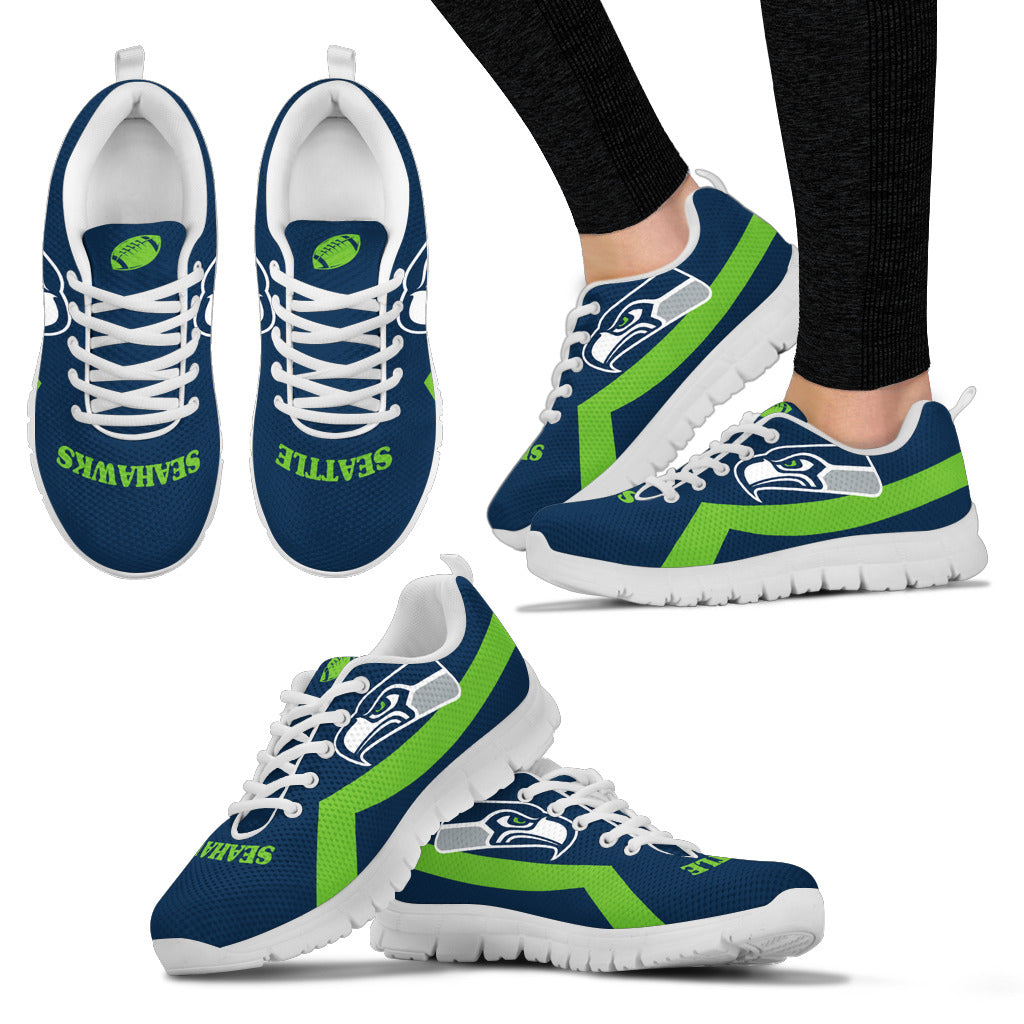 Seattle Seahawks Line Logo Sneakers