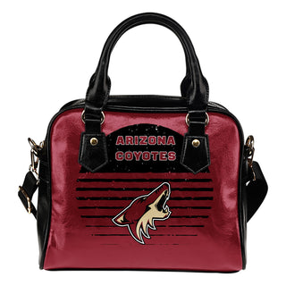 Back Fashion Round Charming Arizona Coyotes Shoulder Handbags