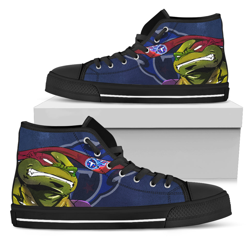 Turtle Tennessee Titans Ninja High Top Shoes