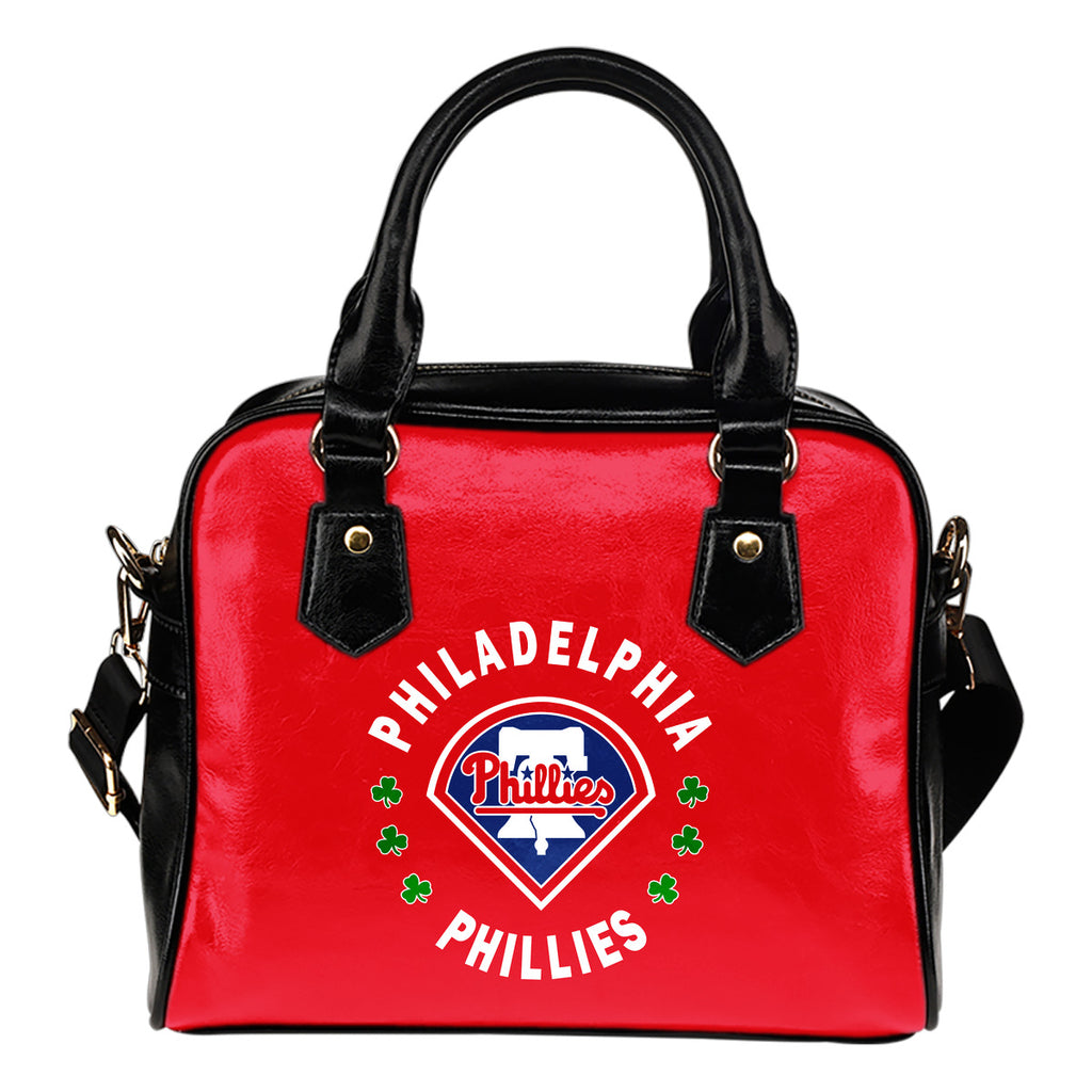 Central Beautiful Logo Circle Lucky Leaf Philadelphia Phillies Shoulder Handbags