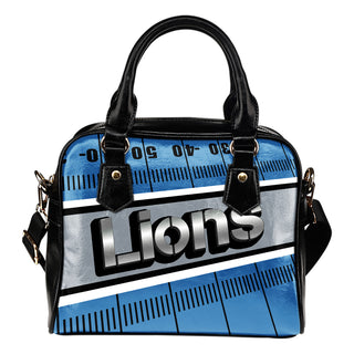 Detroit Lions Silver Name Colorful Shoulder Handbags
