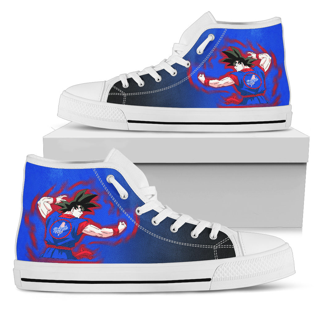 Los Angeles Dodgers Goku Saiyan Power High Top Shoes