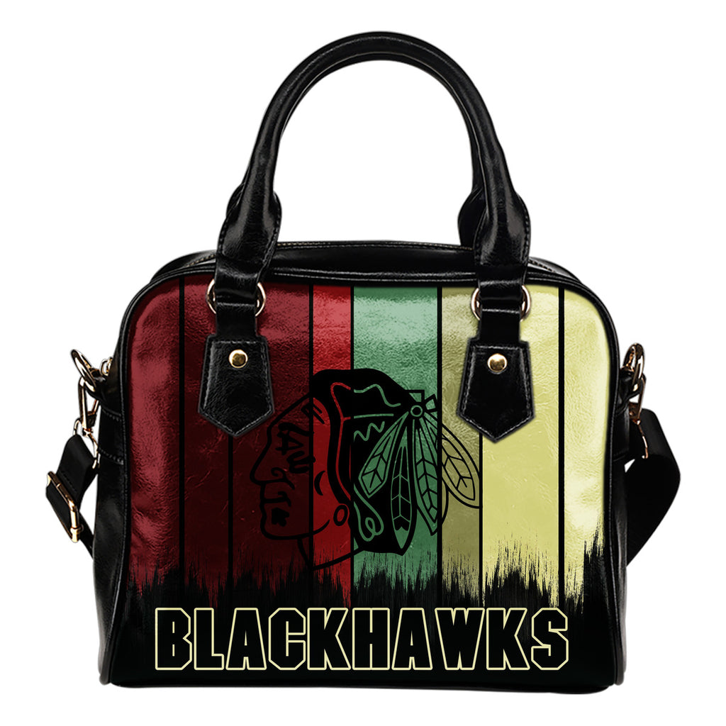 Vintage Silhouette Chicago Blackhawks Purse Shoulder Handbag