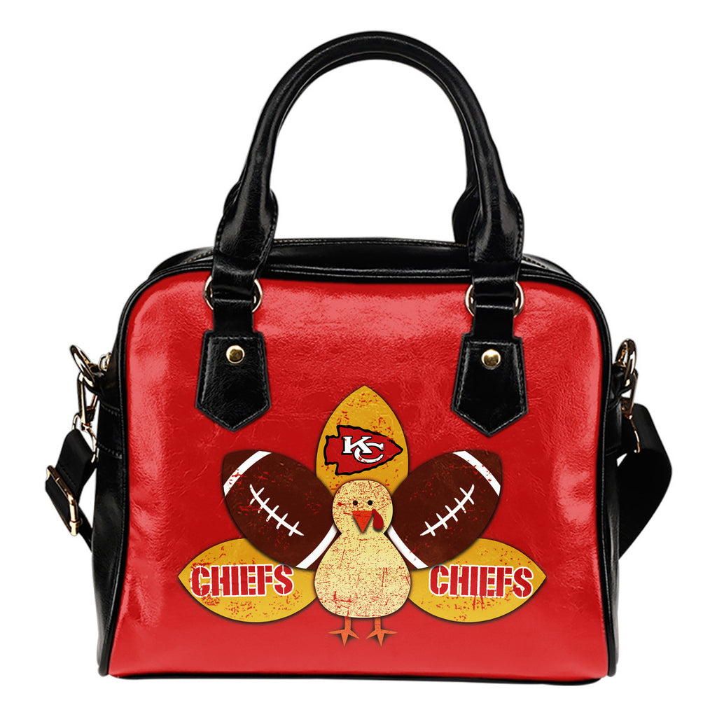 Thanksgiving Kansas City Chiefs Shoulder Handbags - Best Funny Store