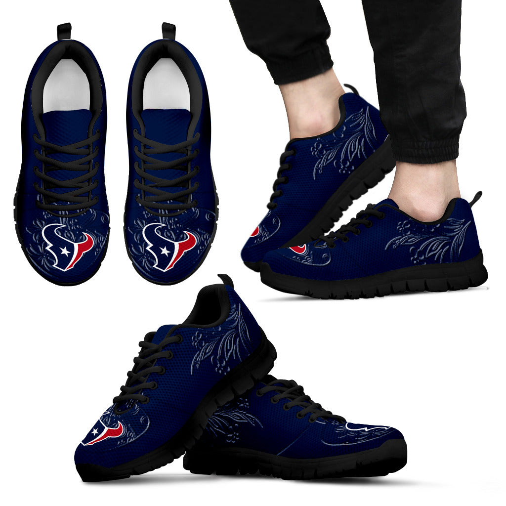 Lovely Floral Print Houston Texans Sneakers