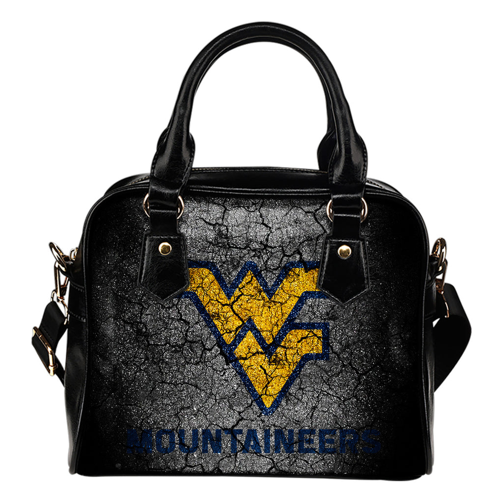 Wall Break West Virginia Mountaineers Shoulder Handbags Women Purse
