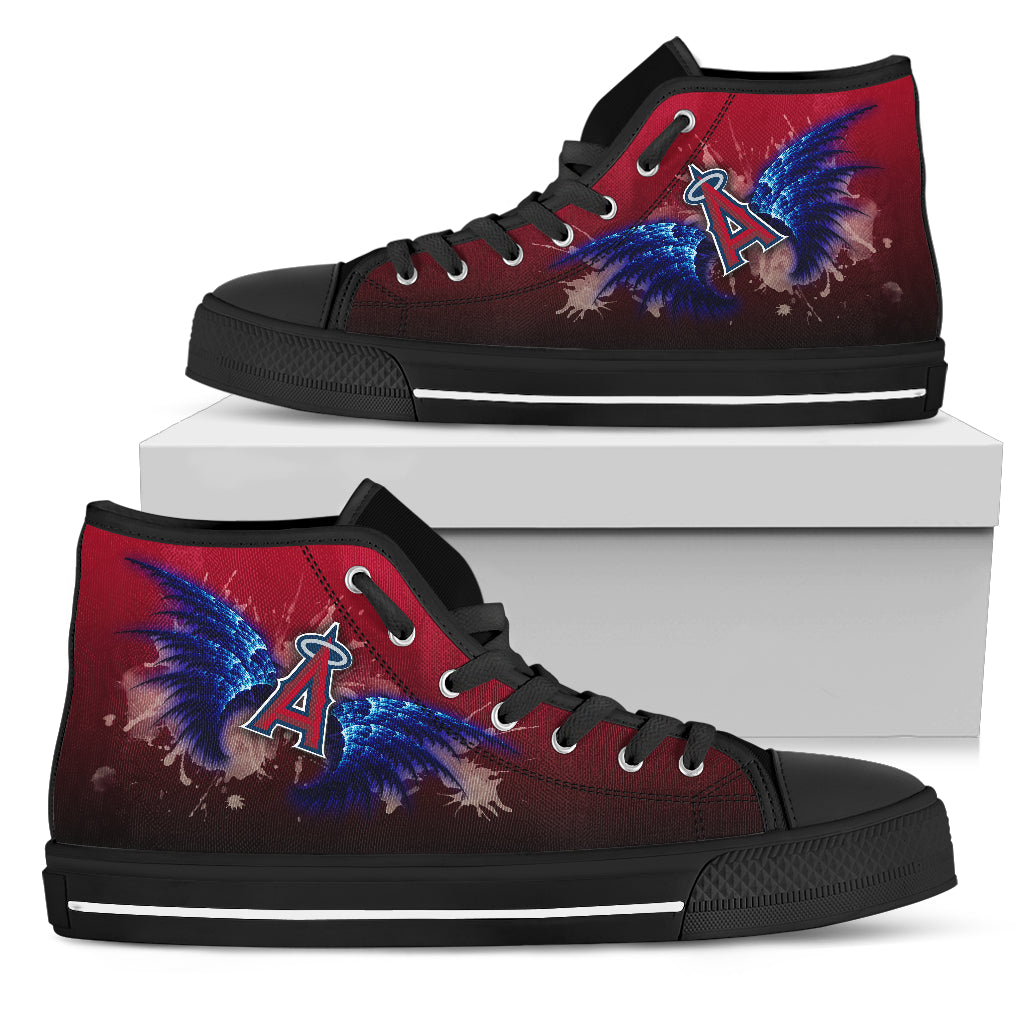 Angel Wings Los Angeles Angels High Top Shoes