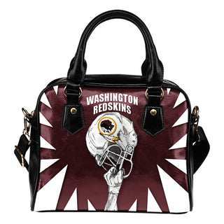 Saw Tooth Border Wonderful Hand Up Washington Redskins Shoulder Handbag