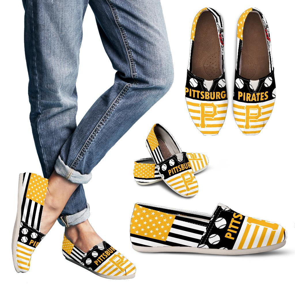 American Flag Pittsburgh Pirates Casual Shoes