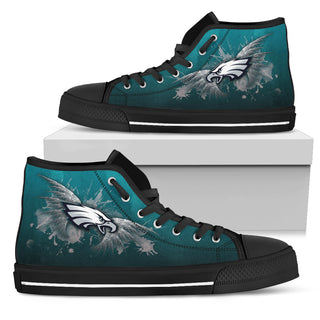 Angel Wings Philadelphia Eagles High Top Shoes