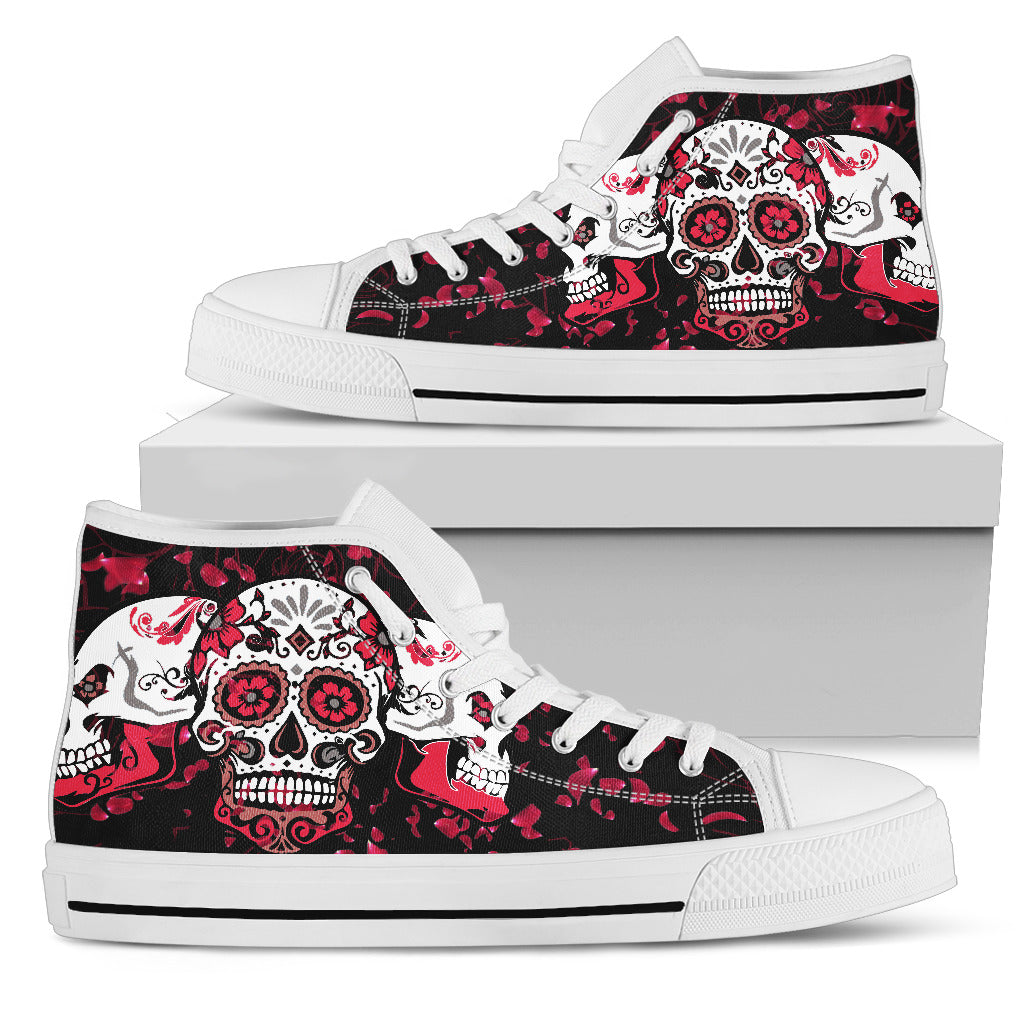 Skull Design High Top Shoes