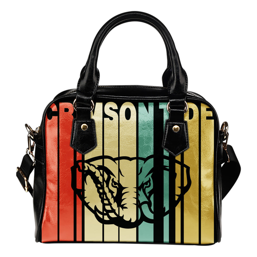 Alabama Crimson Tide Vintage Silhouette Style Handbags - Best Funny Store