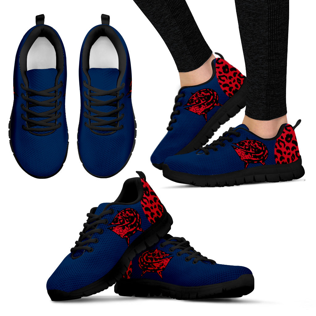 Cheetah Pattern Fabulous Columbus Blue Jackets Sneakers