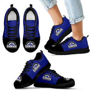 Two Colors Aparted Colorado Rockies Sneakers