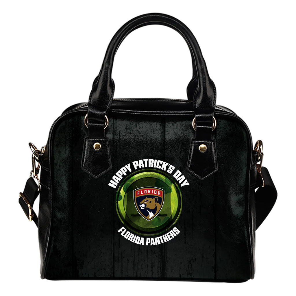 Retro Scene Lovely Shining Patrick's Day Florida Panthers Shoulder Handbags