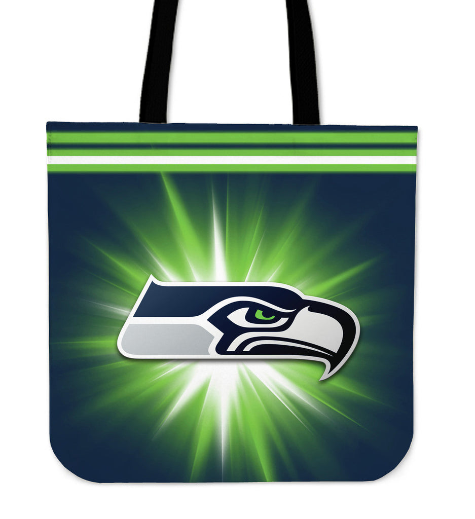 Seattle Seahawks Flashlight Tote Bags - Best Funny Store