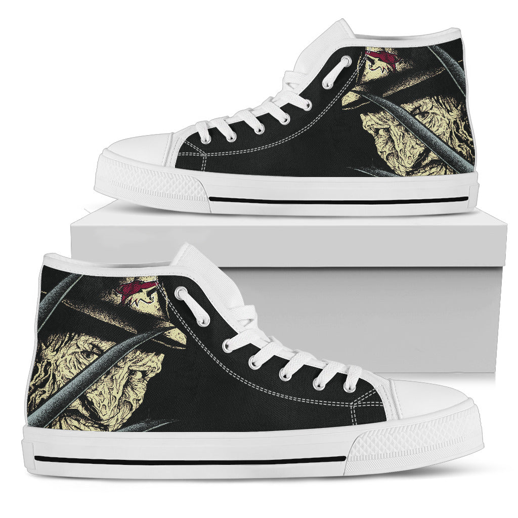 Arizona Coyotes Nightmare Freddy Colorful High Top Shoes