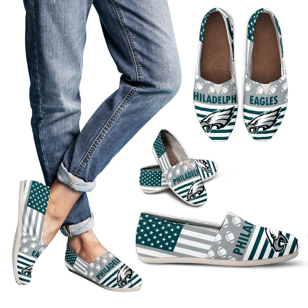 American Flag Philadelphia Eagles Casual Shoes