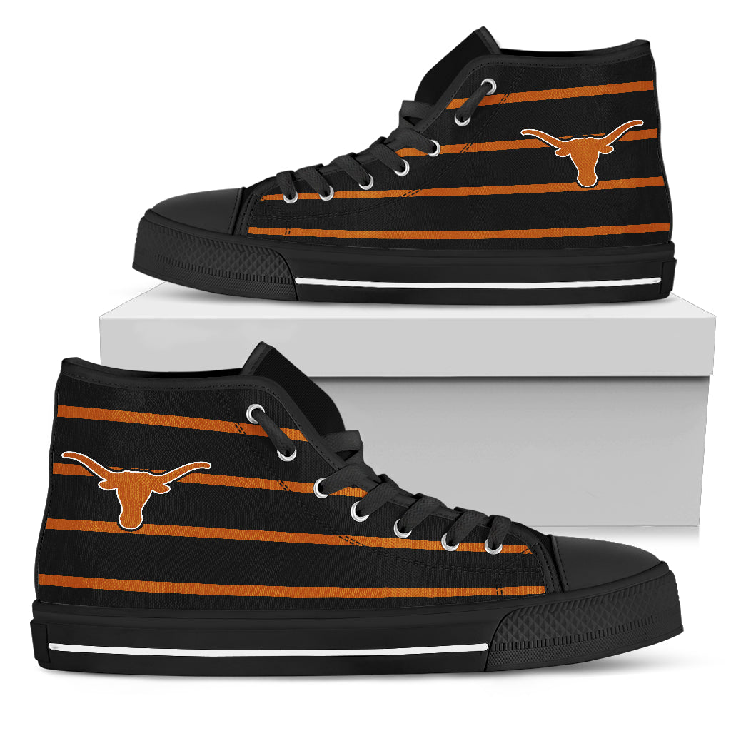 Edge Straight Perfect Circle Texas Longhorns High Top Shoes