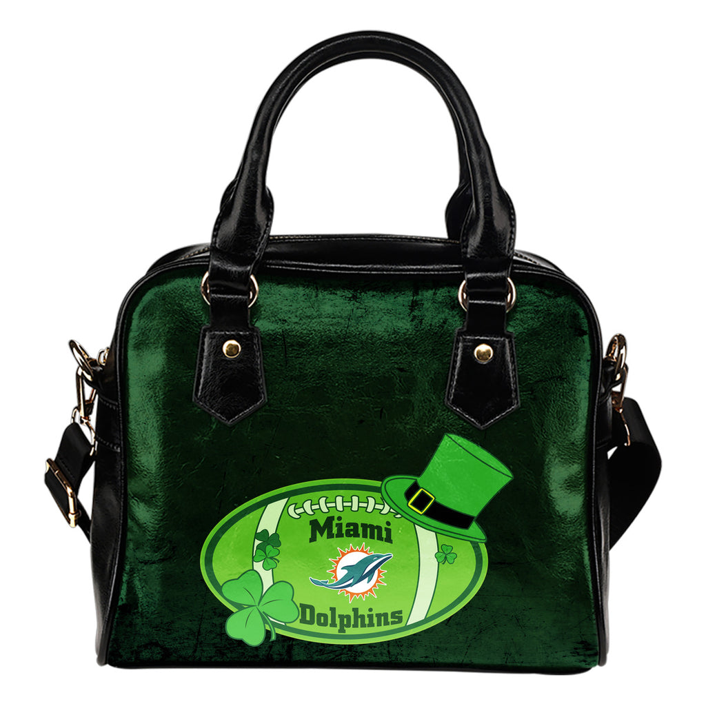 Signal Patrick's Day Pleasant Miami Dolphins Shoulder Handbags