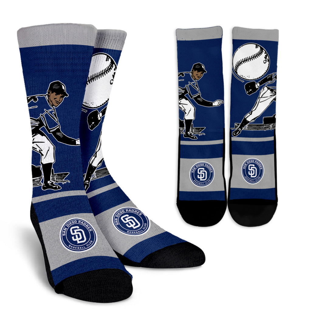 Talent Player Fast Cool Air Comfortable San Diego Padres Socks