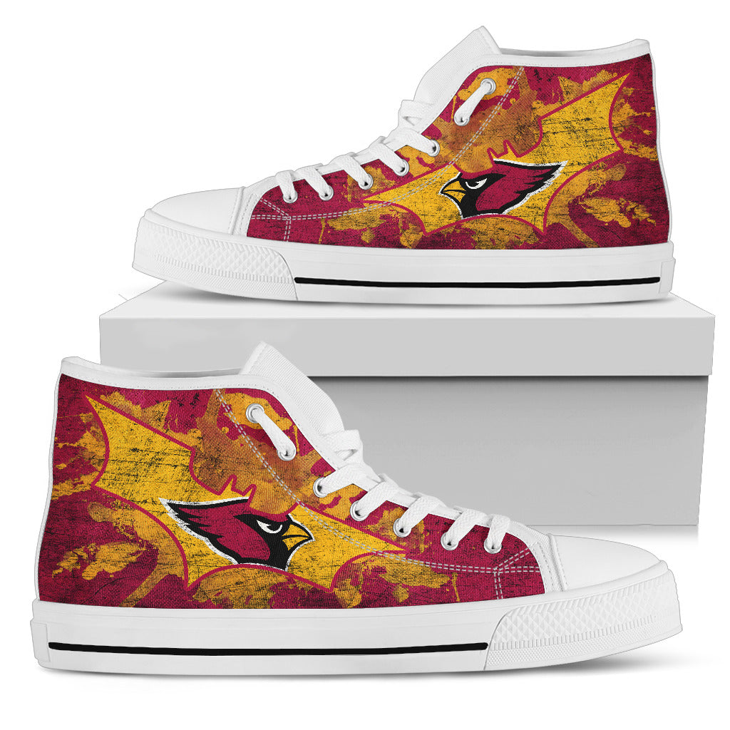 Batman Style Arizona Cardinals High Top Shoes