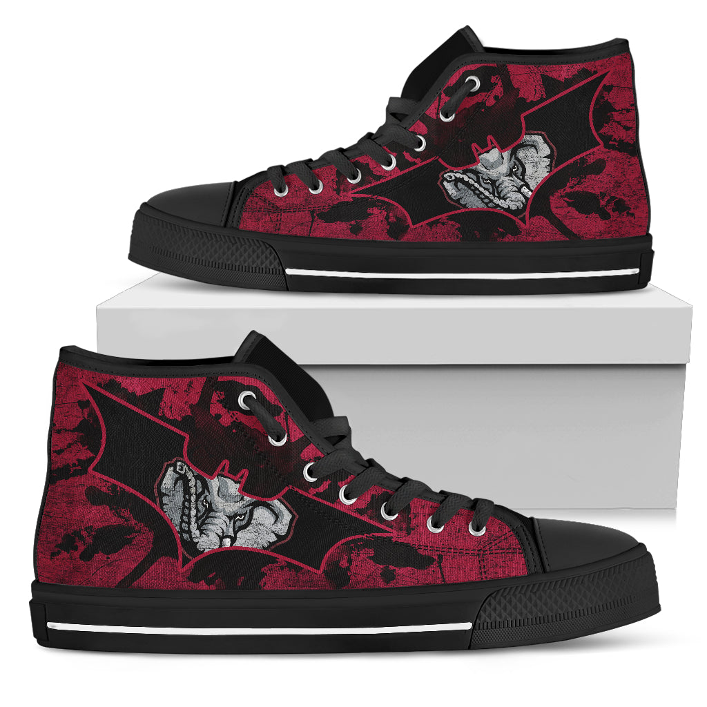 Batman Style Alabama Crimson Tide High Top Shoes
