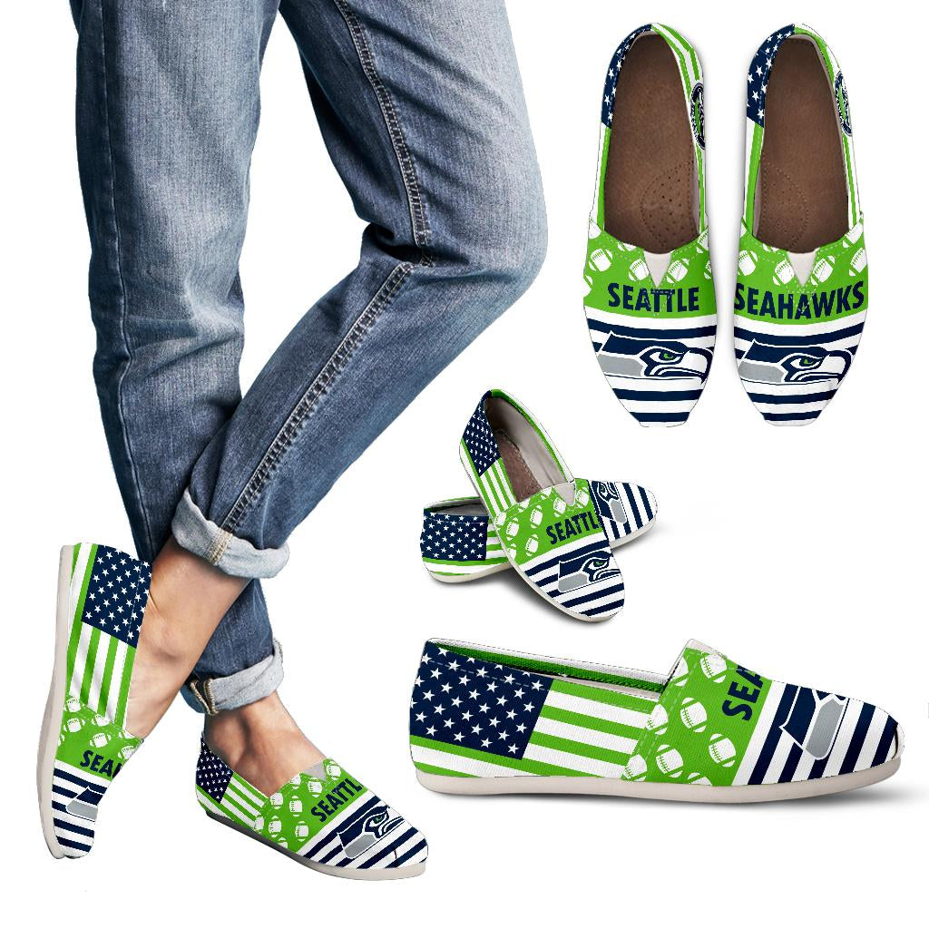 American Flag Seattle Seahawks Casual Shoes