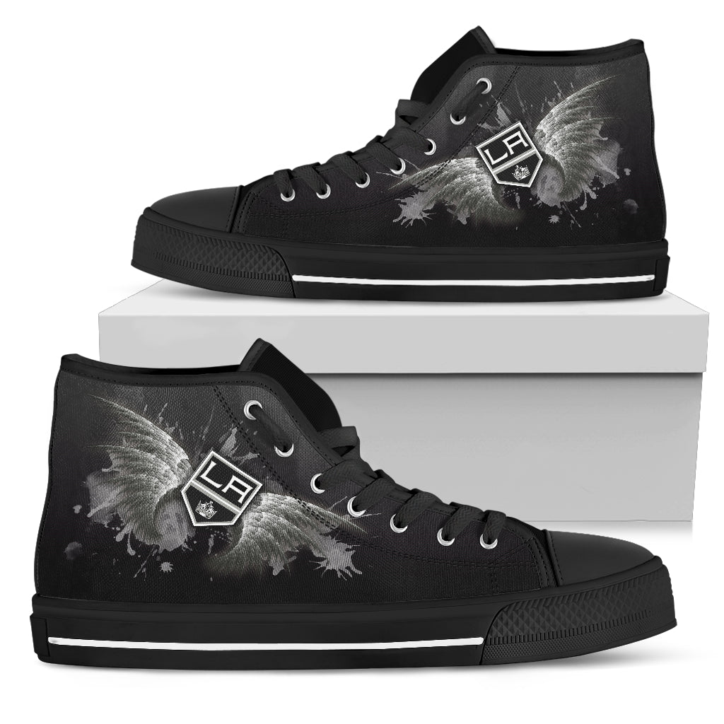 Angel Wings Los Angeles Kings High Top Shoes
