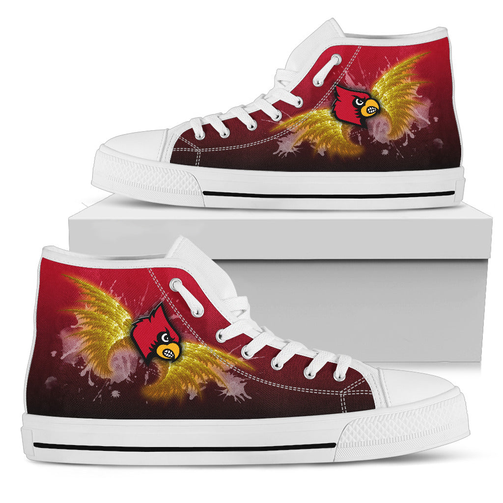 Angel Wings Louisville Cardinals High Top Shoes