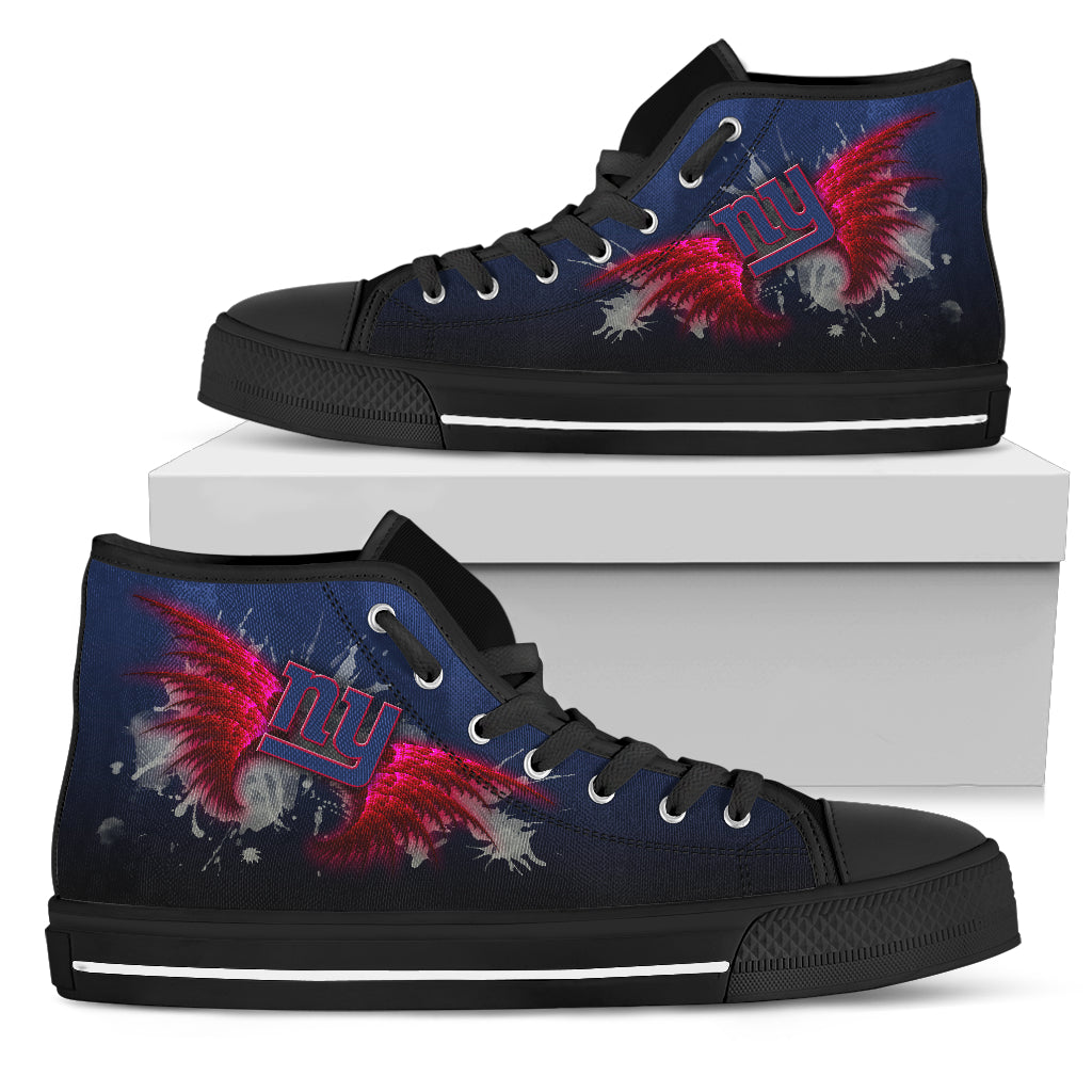 Angel Wings New York Giants High Top Shoes