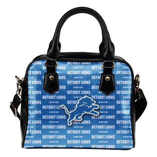 Nice Little Logo Detroit Lions Shoulder Handbags