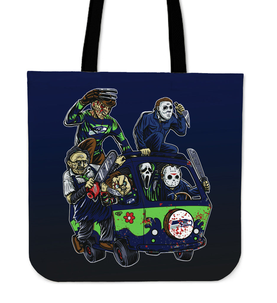 Seattle Seahawks The Massacre Machine Tote Bag - Best Funny Store