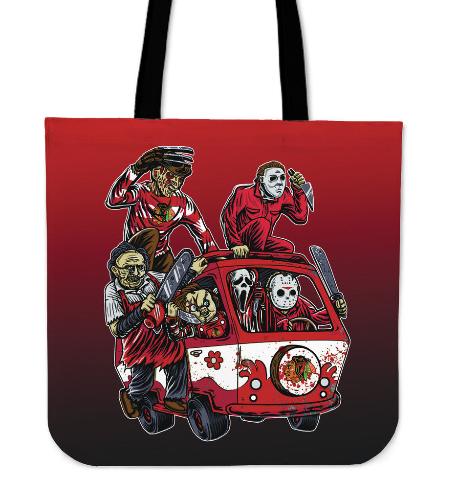 Chicago Blackhawks The Massacre Machine Tote Bag - Best Funny Store