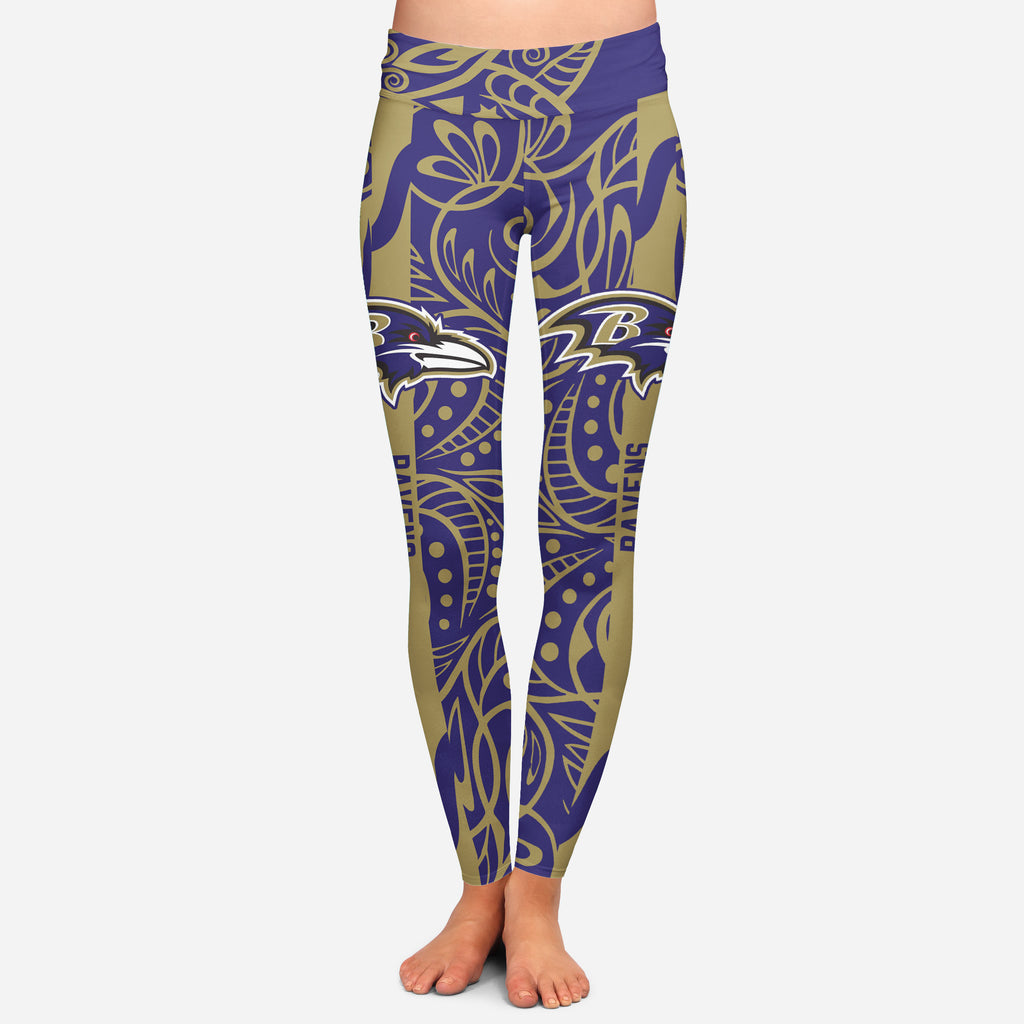 Curly Line Charming Daily Fashion Baltimore Ravens Leggings