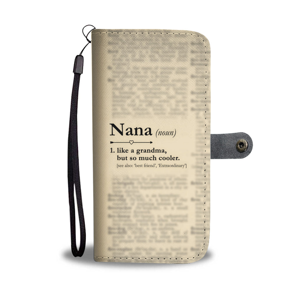 Funny Definition Nana Wallet Phone Cases