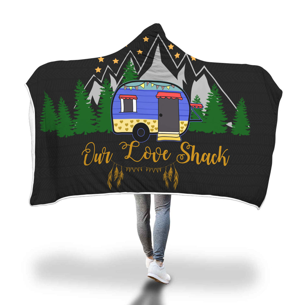Our Love Shack Camping Hooded Blankets