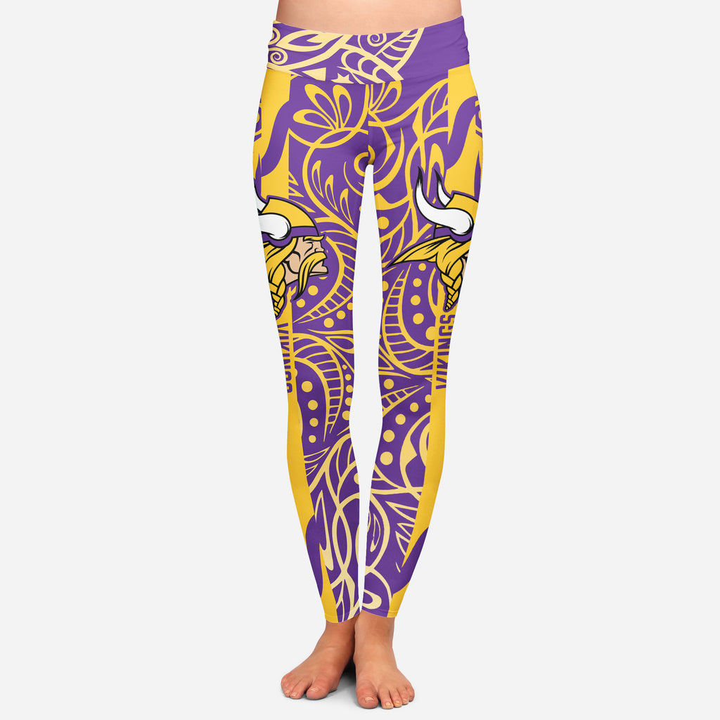 Curly Line Charming Daily Fashion Minnesota Vikings Leggings