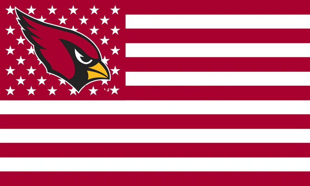 Arizona Cardinals Flag With Star And Stripe 3x5 FT Handled