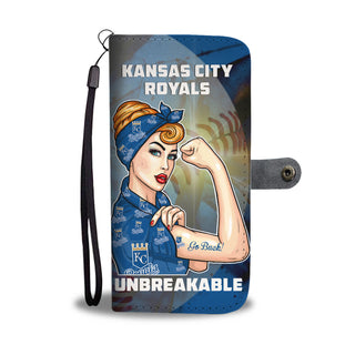 Beautiful Girl Unbreakable Go Kansas City Royals Wallet Phone Case