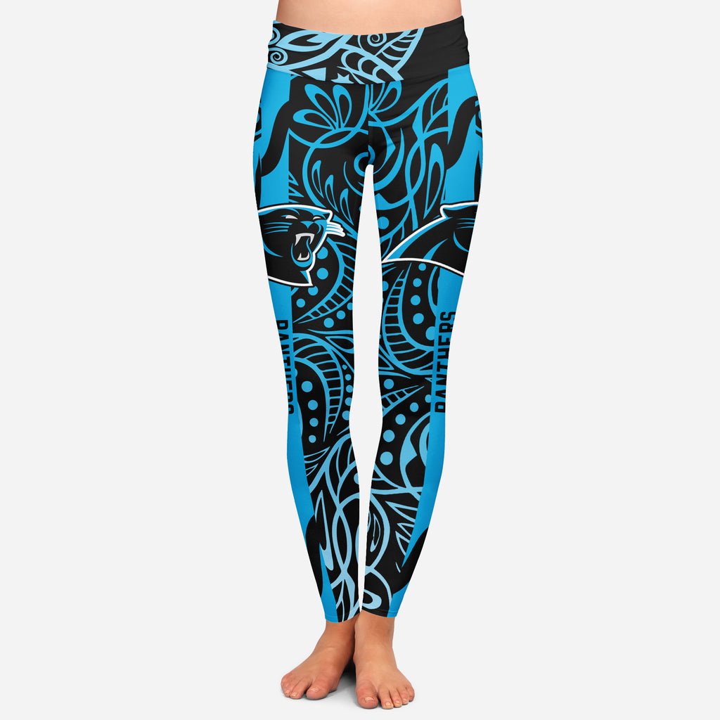 Curly Line Charming Daily Fashion Carolina Panthers Leggings