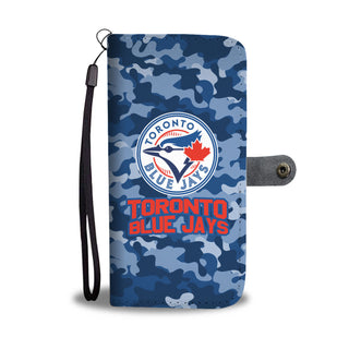Camo Pattern Toronto Blue Jays Wallet Phone Cases