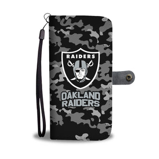 Camo Pattern Oakland Raiders Wallet Phone Cases