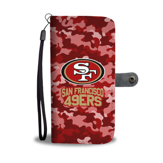 Camo Pattern San Francisco 49ers Wallet Phone Cases